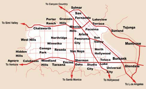 San-fernando-valley-map